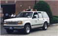 White Fire Chief Van