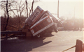 Tipped Over U Haul Truck