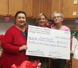 Maplewood of Orange Donation Check 2017